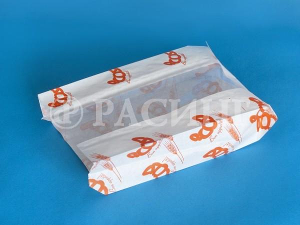 Пакет бумажный с окном