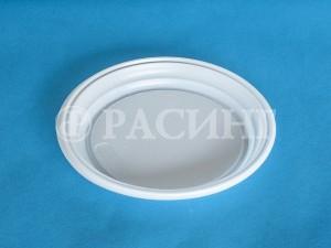 Тарелка большая пластиковая безсекционная