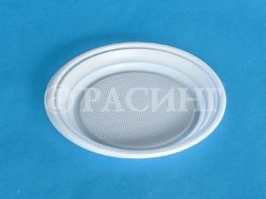 Тарелка средняя пластиковая безсекционная
