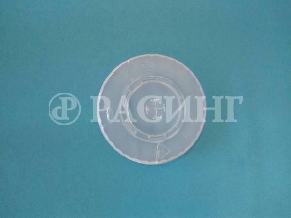 Крышка пластиковая под трубочку Ø90